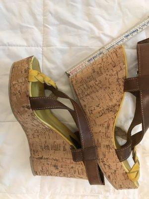 Vera Pelle Wedge Sandals multicolored