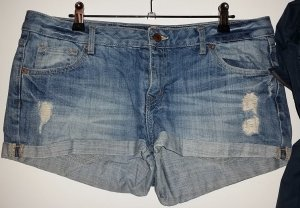 H&M Denim Shorts steel blue cotton