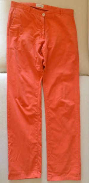 Sommerliche, lange Hose in Apricot /Lachs