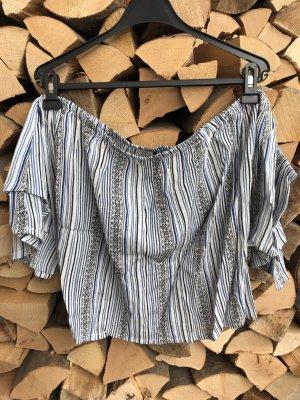 sommerliche off-shoulder Bluse mit schönem Muster (NEU)