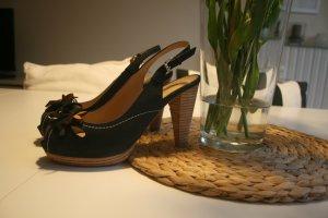 Café Noir Platform Sandals multicolored leather