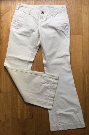 Diesel Pantalon pattes d'éléphant blanc