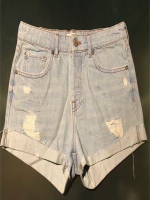 Mango Denim & Tees Pantalon court bleu azur