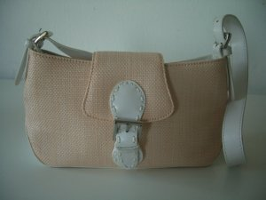 Sommerliche Tasche in weiß/apricot