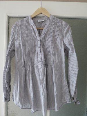 Sommerliche Tunika (grau-weiß)