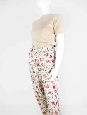 Pantalón de pinza multicolor Viscosa