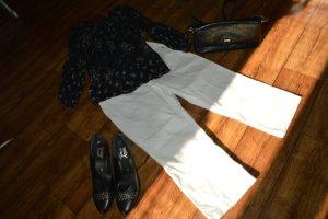 Sommerliche weiße Hose 3/4 Länge Gr.40 StreetOne