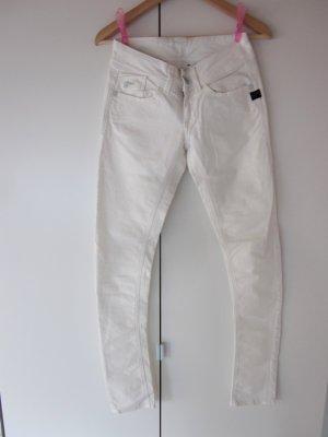 Sommerliche weiße Skinny-Jeans von G-Star (Modell LYNN), Gr. 25/32