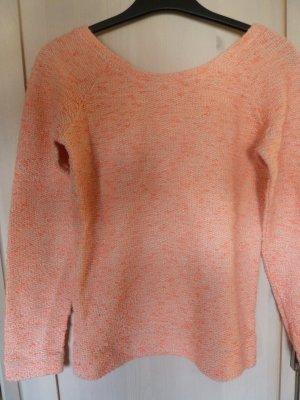 Sommerlicher Bershka Pullover in neon-pink und weiß