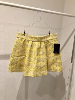 Zara Basic Jupe à plis jaune-jaune primevère