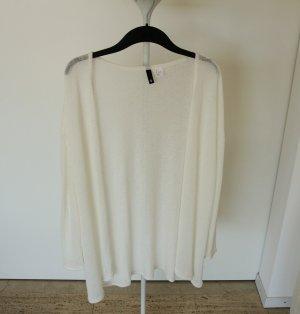 sommerlicher Feinstrickcardigan, weiß/creme, Größe S