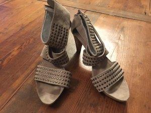 Kennel und Schmenger Strapped High-Heeled Sandals grey