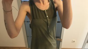 H&M Halter Top green grey-khaki