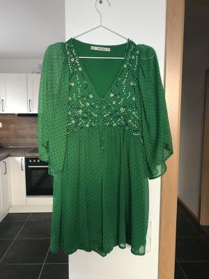 Zara Basic Combinaison vert forêt-blanc polyester