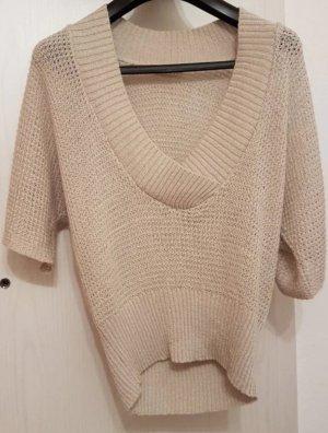 Sommerlicher Kurzarm-Sweater (38) in Beige von Orsay