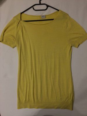 esprit collection Short Sleeve Sweater primrose-yellow viscose
