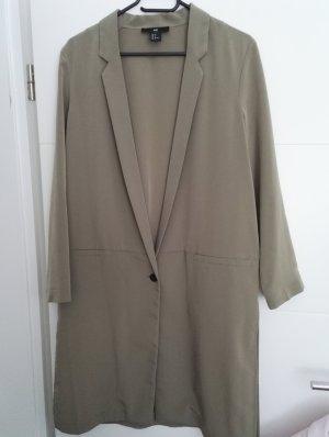 sommerlicher Mantel / oliv, khaki / knielanger Mantel