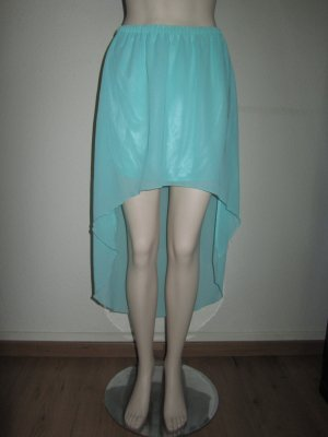 Jupe asymétrique vert menthe polyester
