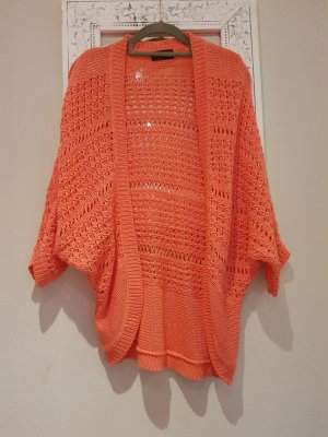 Laura Scott Poncho donker oranje-zalm