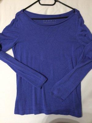 Esprit Sweater staalblauw Gemengd weefsel