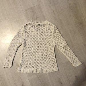 European Culture Pull en crochet blanc