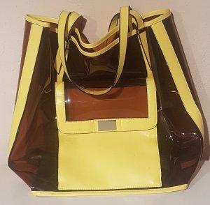 3 Suisses Borsa shopper marrone chiaro-giallo pallido