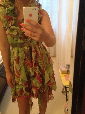 AX Paris Vestido rojo-verde hierba