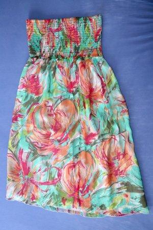 Sommerliches Bandeau Kleid von Esprit Gr. 36 100% Seide