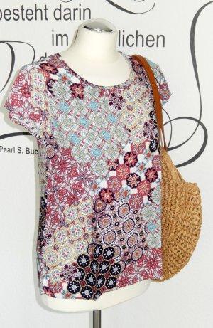 Sommerliches Blusenshirt mit süßem Muster (100% Viskose) - NEU!!