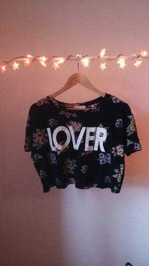 sommerliches Crop-Shirt mit Print