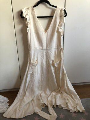 Sommerliches Kleid mit Leinen von Zara