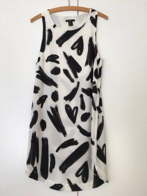 Sommerliches Kleid schwarz weiß H&M