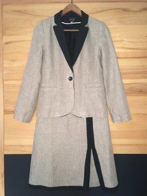 1.2.3 Paris Ladies' Suit black-oatmeal mixture fibre