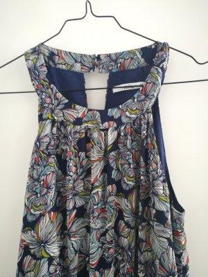 Sommerliches Maxi-Kleid mit abstrakten Blumenmuster
