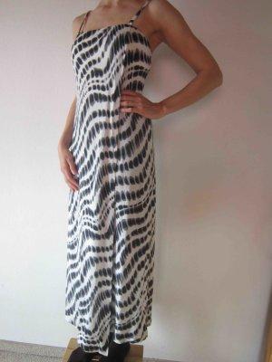 Robe longue noir-blanc