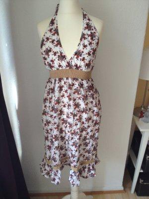 Sommerliches Neckholder-Kleid Blumenmuster