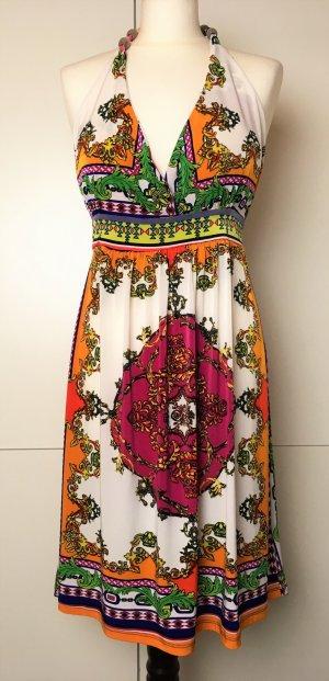 Sommerliches NECKOLDER Kleid bunt Stretch Jersey- Neu - Gr 42 XL