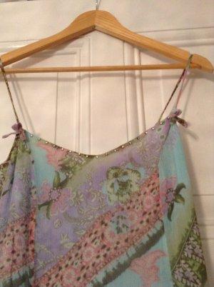 sommerliches Seidenkleid mit Strasssteinchen, süss!!