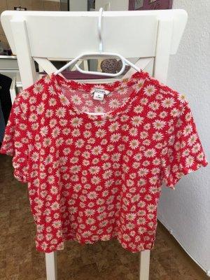 Monki Camicia bianco-rosso