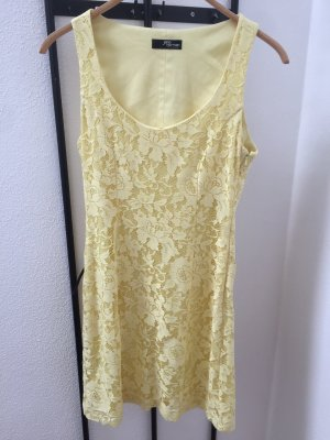 Jane norman Lace Dress pale yellow-primrose