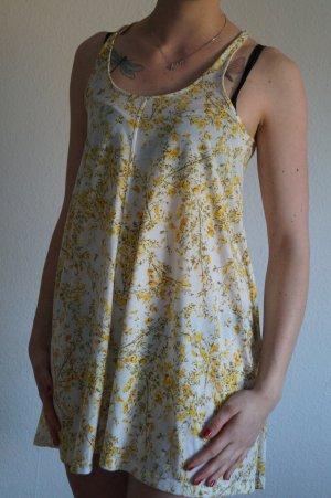 sommerliches Strandkleid gelbe Blumen
