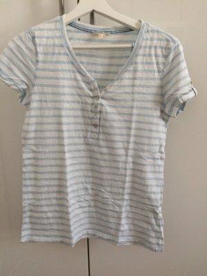 Esprit Gestreept shirt wit-babyblauw Katoen