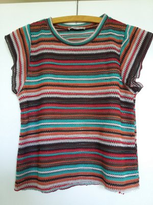 Zara Knit Knitted Top multicolored polyester