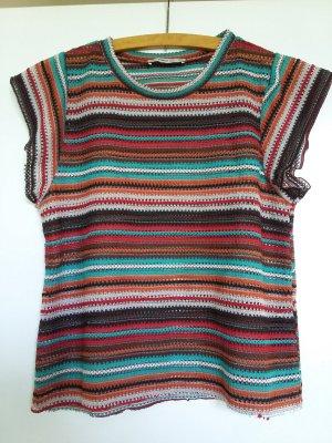 Zara Knit Top lavorato a maglia multicolore Poliestere