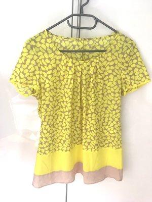 Sommerliches T-Shirt, comma, Gr. 36, gelb/beige für den Sommer