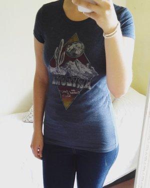 sommerliches T-Shirt graublau aus Amerika