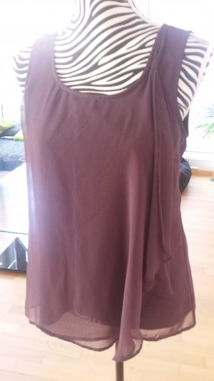 sommerliches Top in aubergine