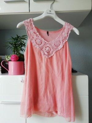 Amisu Shirt Tunic pink-light pink polyester