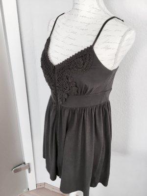 Sommerliches Trägerkleid in Grau Größe M