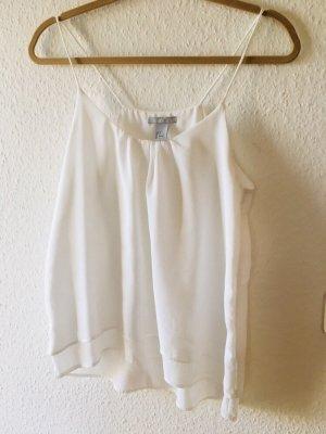 H&M Top de tirantes finos blanco